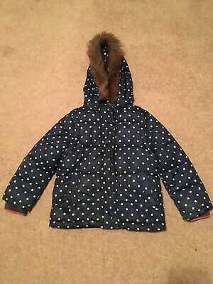 Mini Boden Girls Blue Spotty Coat Age 2-3 Years