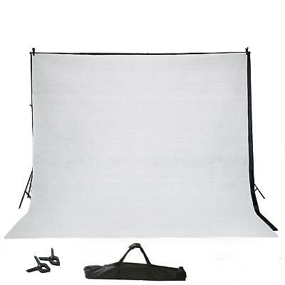 10Ft Adjustable Photo Muslin Background  Support System w/Black & White Backdrop