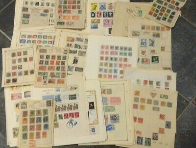 World Stamps On Old Album Leaves  Approx 3300 +  Stamps