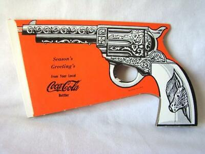 Vintage 1950s CHRISTMAS Advertising COCA-COLA Snap Paper Popper PISTOL Toy Gun