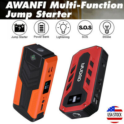 800A / 1200A 12V Car Vehicle Jump Starter Booster Battery Charger USB Power Bank