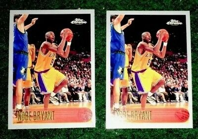 1996 Topps Chrome #KOBE BRYANT Rookie Card LOT Of (2) Rookies RP Rare LA Lakers!