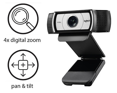 For Logitech C930C HD Webcam Live Network Conference Wide Angle (FREE POSTAGE)
