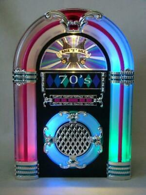 Rock & Roll JUKEBOX Illuminated Music Collectible 70's Songs WORKS GREAT