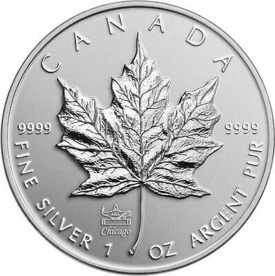 Canada - 2014 'ANA Privy-Marked Maple Leaf Bullion' $5 Pure Silver Coin w/OGP