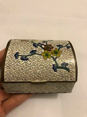 Antique Chinese Export Cloisonné Enamel Trinket Box #2