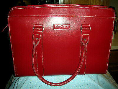 Day1ne Red Laptop Bag / Office Commuter Bag - Women's Franklin Covey Day One