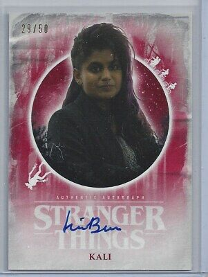 2019 Topps Stranger Things Welcome Upside Down KALI ON CARD AUTO RED /50