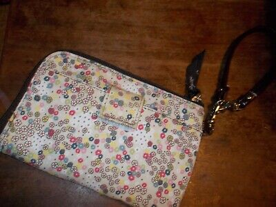 Thirty-One FLORAL MULTI POCKET/SLOTS Zippered Wristlet