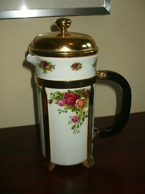 Royal Albert Old Country Roses Cafetiere Coffee Maker VGC