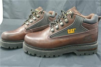 Caterpillar Boots Size 6 Uk Cat Brown Leather Work Shoes
