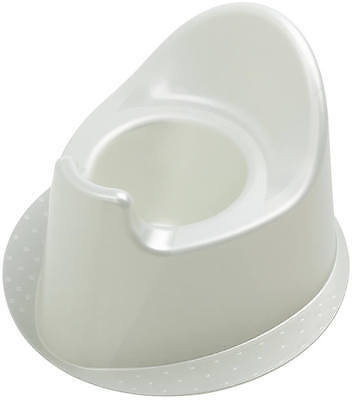 Rotho Top Potty (Potty ) with Double Splash - Pearl White Cream New