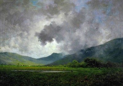 "oil painting 100% handpainted on canvas ""April Showers, Napa Valley"""