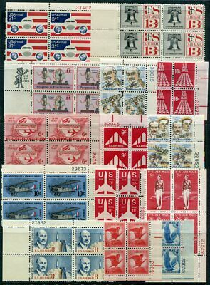 US  Beautiful  Mint NEVER Hinged AIR MAIL PLATE BLOCKS UPTOWN