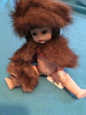 "Vintage 1950s 1955 Real Mink Stole, Muff & Hat RARE For 8"" Doll Ginny? Or Others"