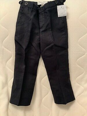 Marie Chantal Childs Age 2 Navy Linen Trousers