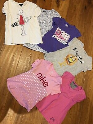 6 x  Girls T Shirt Bundle - Nike, Converse, Gap etc  bundle - Age 6-9 years  VGC