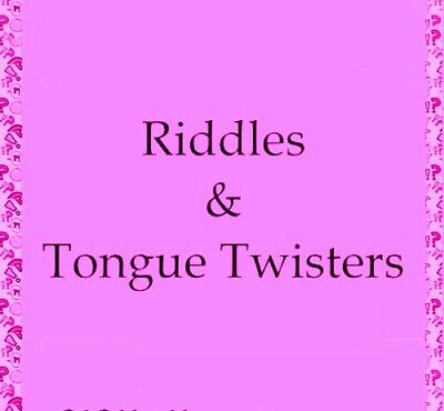 RIDDLES & TONGUE TWISTERS 737 MAX to CANARY SILVER WATCH PDf-eBOOK FAST DELIVERY