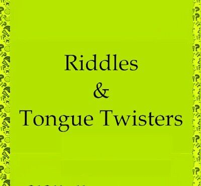 RIDDLES & TONGUE TWISTERS 737 MAX to CANARY GREEN WATCH PDf-eBOOK FAST DELIVERY