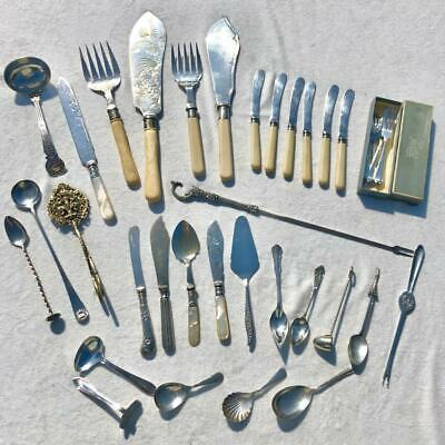 Large Collection Job Lot Of Interesting Silver Plated Cutlery
