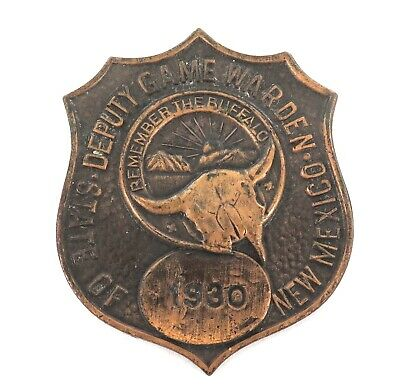 Rare Obsolete 1930 Deputy Game Warden New Mexico Badge. White Head & Hoad Makers