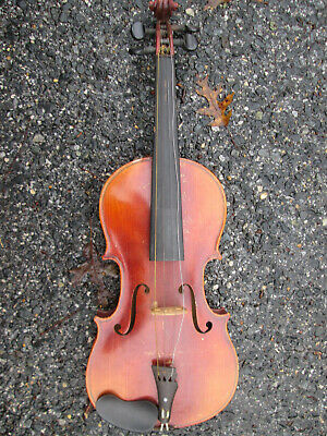 "Vintage 20s-30s Stradivarius TAG Czechoslovakia Violin NEEDS TAILPIECE 22"" LONG"