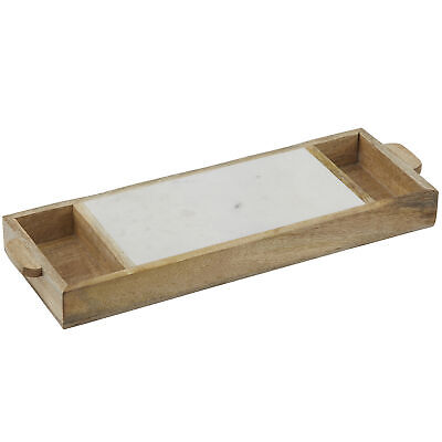 NEW Eliot Marble & Wood Serving Tray - Academy,Kitchen & Butler Trays