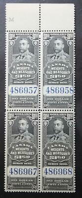 Canada #FWM68, MNH OG Block Of 4, Weights & Measures Inspection Stamps