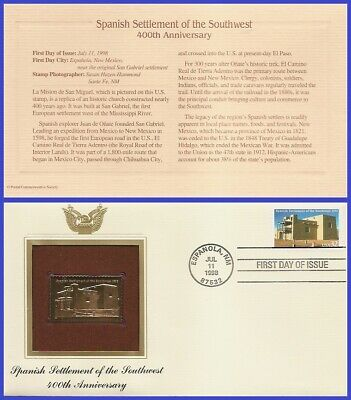 #3220 U/A GOLDEN REPLICA FDC   Spanish Settlement of the South
