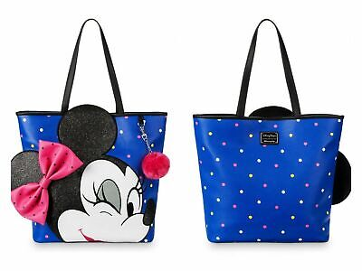 NEW Disney Loungefly Blue Minnie Loves Mickey Embossed Bowling Bag Satchel Purse