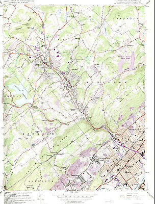 KINGSTON, PENNSYLVANIA > 1946/1983 USGS Topographic Map Original 7.5-minute Topo
