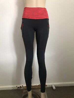 LULULEMON High Rise Gray & Red Tights 6
