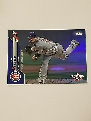 Jon Lester 2020 Topps Opening Day Blue Foil Parallel SP #53 Chicago Cubs