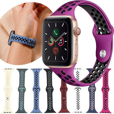 Slim Sports Watch Band Strap For Apple Watch Series 5 4 3 21 38mm 40mm 42mm 44mm