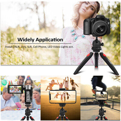 Andoer Mini Tabletop Tripod Phone Camera Tripod Ball Head Fr DSLR Camcorder H9U2