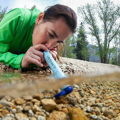 LifeStraw Personal Water Filter Hiking Camping Emergency Prepper Portable