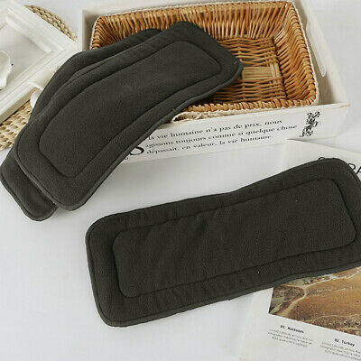 4 Layers Washable Reusable Bamboo Charcoal Fiber Cloth Nappy Insert Baby Diaper