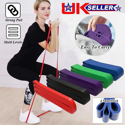 Resistance Bands Power Lifting Exercise Band Fitness Pull Up Band Latex UK STOCK