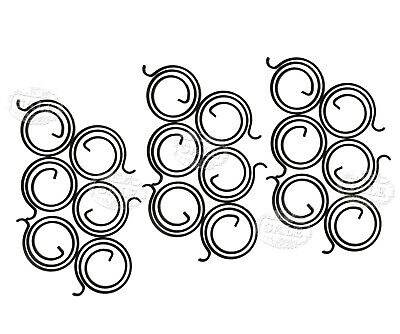 Replacement 2.5 Turn Springs Supply for Door Handle Coil Repairing Multi-Choice