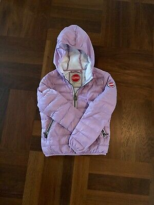 Girls Lightweight Lilac Colmar Hooded Puffer Jacket  Age 6 Excellent Condition