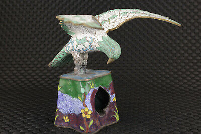big chinese old cloisonne hand painting eagle statue figure collectable antique