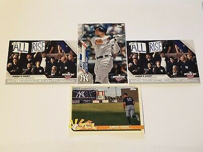 (4) 2020 Topps Opening Day Aaron Judge Insert Lot