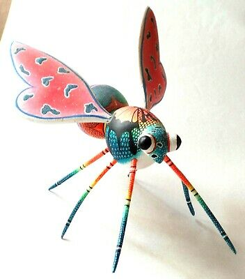 Vintage Hand Carved & Hand Painted Multi-Color Honey Bee Signed by Victoria Blas
