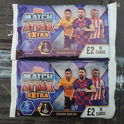 Topps Match Attax Extra 10 Packets Of 15 Trading Cards