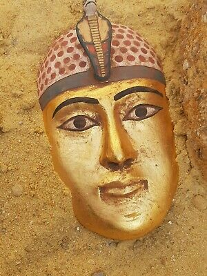 Rare Antique Ancient Egyptian Wooden Mask King Amenhotep Snack Protct1525–1504BC