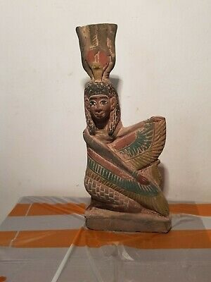 Rare Antique Ancient Egyptian Statue Goddess Isis Good Health cure 1850-1760BC