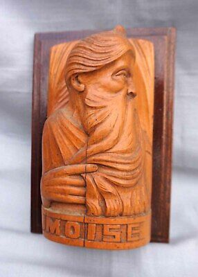 Moses Moise Camille Boucher Quimper French Art Deco Carved Wood Figure