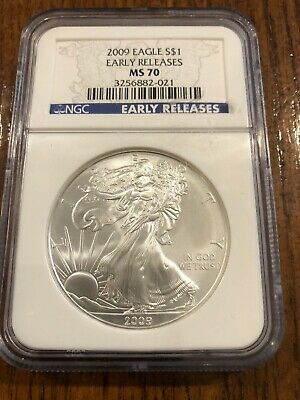 2009 S Silver American Eagle $1 NGC MS70 Early Releases