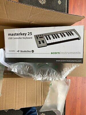 Acorn Masterkey 25, New In Box! MIDI USB Controller Keyboard