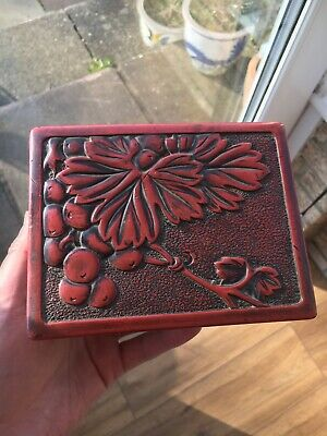 Fine 19th Century Antique Japanese Carved Wooden Kamakura-bori Lacquer Box
